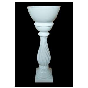 Florero blanco en columna de 41.5x41.5x101cm