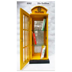 Porta CD diseño Cabina Telefónica amarilla estilo Londres de 28x19x80cm