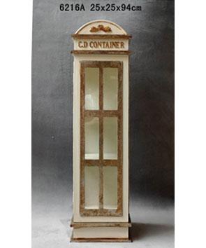 Caseta telefónica con entrepaños beige de 25x25x94cm