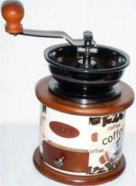 Molino de café diseño granos de café de 12x12x17.5cm