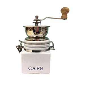 Molino de café de porcelana blanca de 10x10x16.5cm