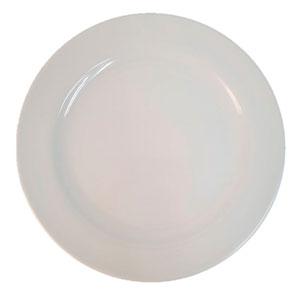 Platón  de melamina redondo  blanco de 50 cm diametro