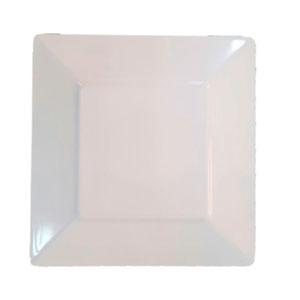 Plato de melamina de 20.5 x 20.5 cm