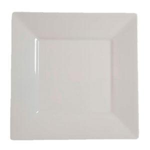 Plato de melamina cuadrado  26.5 x 26.5 cms