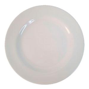 Platón  de melamina  blanco de 40.5  cm