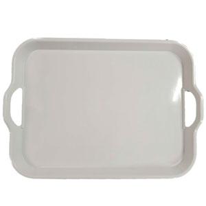 Charola de melamina blanca 43.5 X 32.5cm