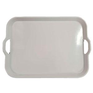 Charola de melamina  blanca  50.5 X 38 cm