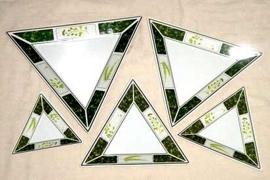 Juego de 5 botaneros triangulares de melamina