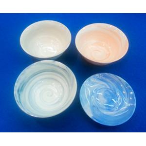 Juego de 12 tazones de porcelana imitacion marmol en diferentes tonos