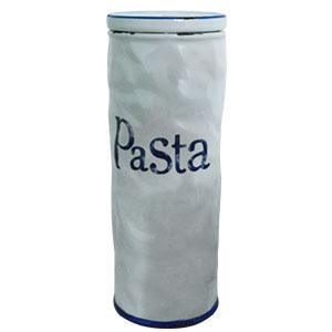 Recipiente para pasta de cerámica blanco con azul de 28cm