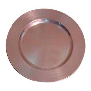 Plato de presentación redondo plata de 33cm