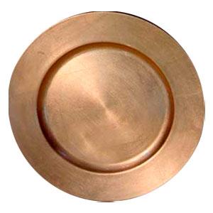 Plato de presentación redondo dorado de 33cm