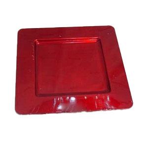 Plato de presentación cuadrado rojo de 33 x 33cm  rojo