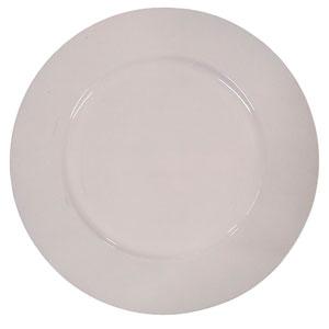 Plato de presentación color blanco de 33cm