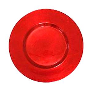 Plato de presentación redondo rojo de 33cm