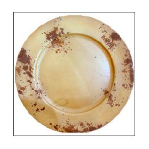 Plato de presentacion redondo de 33cm terminado antiguo beige