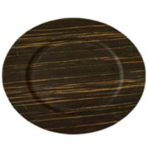 Plato de presentación redondo imitación madera de 35.5x35.5x2cm