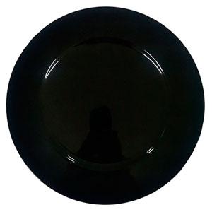 Plato de presentación color negro de 33x33x2cm