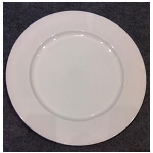 Plato de presentación color blanco de 33x33x2cm