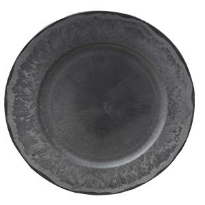 Plato de presentación color gris de 33x33x2cm