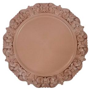 Plato de presentación color rosa 33x33x2cm