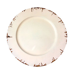 Plato de presentación terminado antiguo beige de 33x33x2cm