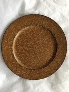 Plato de presentación terminado oxido de 33x33x2cm