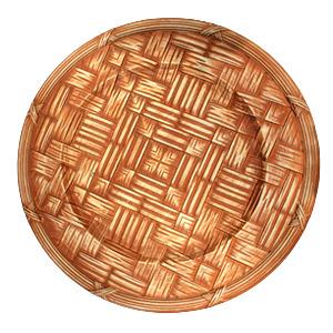 Plato de presentación diseño madera de 35x35x2cm