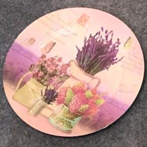 Plato de presentación diseño campo de Lavanda de 33x33x2cm