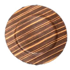 Plato de presentación diseño diseño de madera café de 33x33x2cm