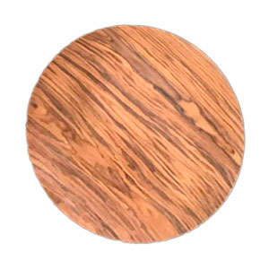 Plato de presentación diseño madera café de 33x33x2cm