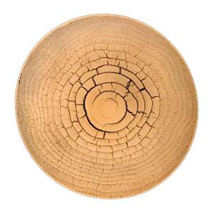 Plato de presentación diseño tronco de madera de 33x33x2cm