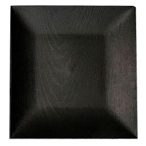 Plato de presentación cuadrado negro diseño madera de 33x33x2cm