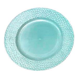 Plato de presentación azul diseño panal de 33x33x2cm