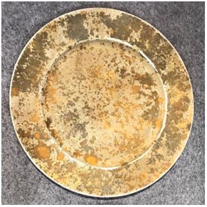 Plato de presentación diseño rustico color cobre de 36x36x2cm