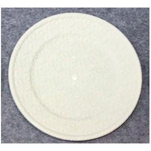 Plato de presentación gris diseño de hexágonos de 33x33x2cm