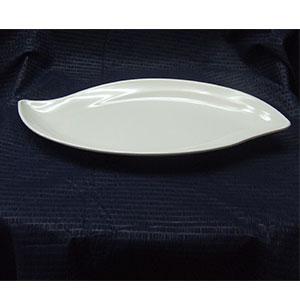Plato diseño hoja de melamina de 36x18cm