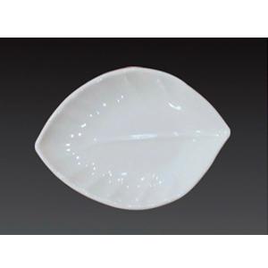 Plato de melamina diseño hoja de 15x10.5x2cm