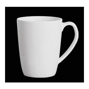 Taza blanca de melamina de 11.3x8x10.4cm