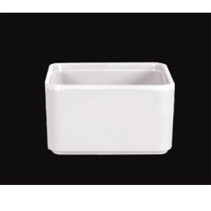 Caja de melamina blanca para Té de 7x7x5cm