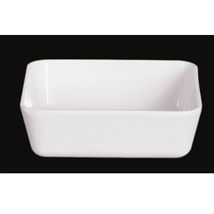 Caja de melamina blanca para Té de 13x13x4cm