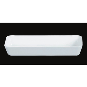 Caja de melamina blanca rectangular de 24x9x4cm