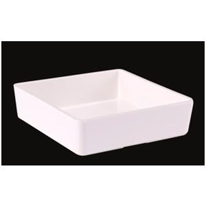 Caja cuadrada de melamina blanca de 15x15x4cm