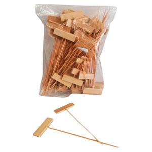 Bolsa con 100 palos de bambú con banderin de 15cm