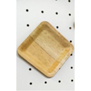 Paquete con 50 charolas cuadradas de bambu de 9x9cm