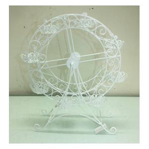 Rueda de la Fortuna de metal blanco para 8 cupcakes de 36.5x15x42.5cm