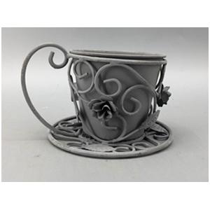Macetero diseño taza con guías de 17x11x14cm