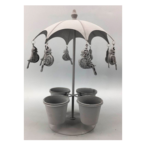 Macetero para 4 plantas diseño sombrilla de 24x24x36cm