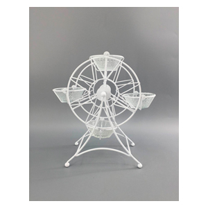 Base para 4 pastelillos diseño rueda de la Fortuna de 19x14x24cm