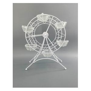 Base para 6 pastelillos diseño rueda de la Fortuna de 28x14x34cm